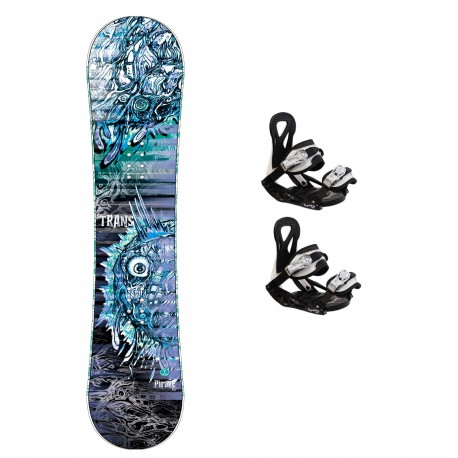 TRANS Pirate blue Junior + TRANS ECO XS/S bindings
