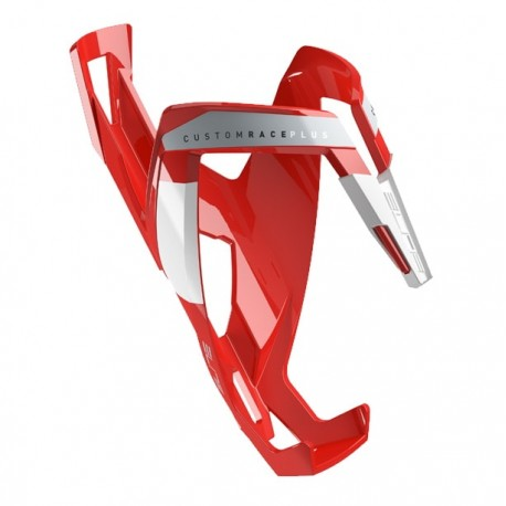 Elite bottle cage Custom Race Plus Red Glossey White graphic