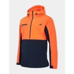 4F Softshell navy blue/orange